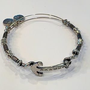 Alex and ani boat anchor silver tone beaded